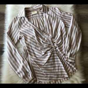 Maeve Anthropologie Striped Buttons Blouse NWT